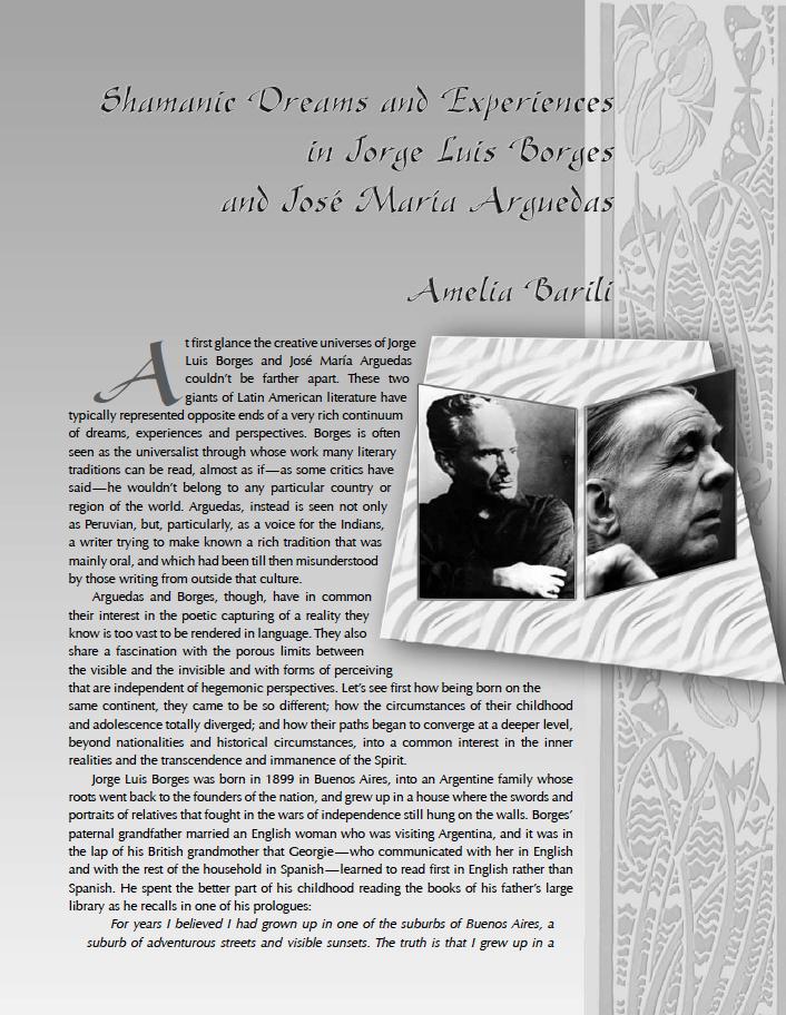 Jorge Luis Borges and Jose Maria Arguedas